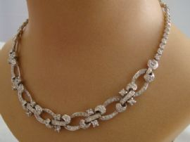1940s Diamante Necklace signed Pennino USA (Sold)